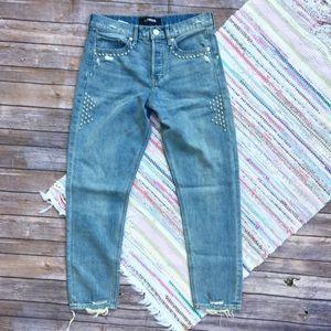 Express Vintage Skinny High Waist Denim Jeans